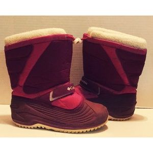 COLUMBIA PINK 2-TONE 38 SZ 6 US VELCRO LINED BOOT